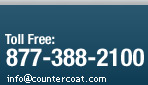 Phone - Toll Free: 877 388 2100 / Email: info@countercoat.com
